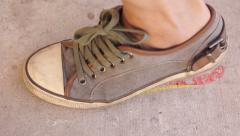 Leaving Mark Footprint Germany - stock footage