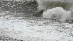 Storm Waves on the black Sea - stock footage