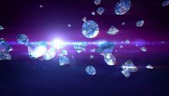 Diamonds falling - stock footage