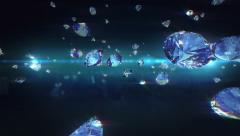 Falling diamonds Stock Footage