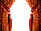 Stock Photo of luxury curtain with a copy-space in the middle