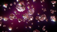 Falling diamonds - stock footage