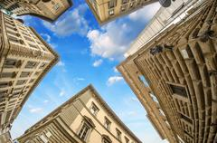 Geometric shapes of Typical Buildings in Tuscany Stock Photos