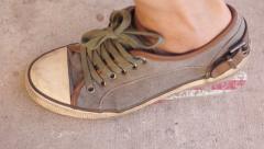 Leaving Mark Footprint USA - stock footage