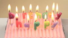 Zoom Back From Birthday Candles Stock Footage