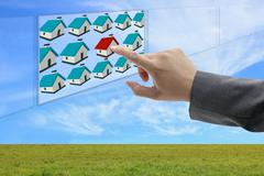 Finding online property Stock Photos