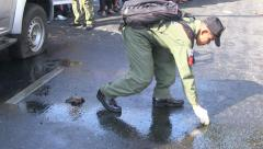 BOMB GRENADE BLAST ATTACK TERRORISM POLITICAL - stock footage