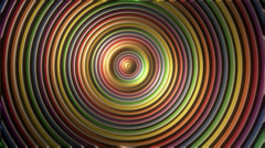 Psychedelic rainbow circles seamless loop - 1080p Stock Footage