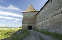 A tower of Noteburg fortress Stock Photos