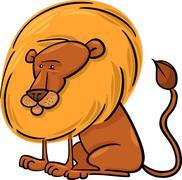 Stock Illustration of African Lion Cartoon