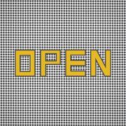 Open sign retro Stock Illustration