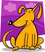 cartoon doodle of funny dog - stock illustration