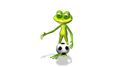 Stock Video Footage of soccer player frog