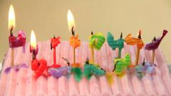 Time lapse Birthday Candles Going Out Stock Footage