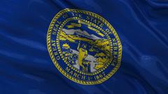 US state flag of Nebraska - seamless loop Stock Footage