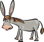 Cartoon illustration of donkey Stock Illustration