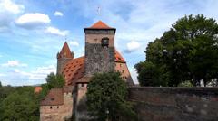 Nuremberg Castle, Bavaria, Germany Stock Footage