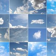 Blue sky collage - stock photo