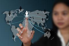 World social network concept Stock Photos
