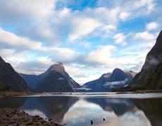 Milford sound New Zealand - stock photo