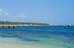Beautiful Carribean Coastline - stock photo