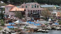 Pagosa Springs Colorado hot spring pools river HD 2740 Stock Footage