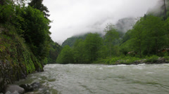 Rushing mountain river Stock Footage