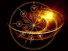 Astrology Dial - stock illustration