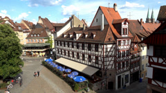 Nuremberg, Street View, Bavaria, Germany (POV1) - stock footage