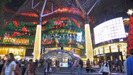 Stock Video Footage of Asia Singapore ION Orchard Shopping Mall Orchard, Road Christmas Deco night