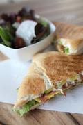 Sandwich egg and avocado Stock Photos