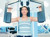 Stock Photo of woman in fitness club