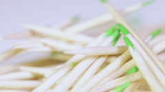 Toothpicks loose Stock Footage