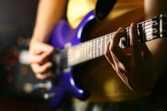 Guitar solo Stock Photos