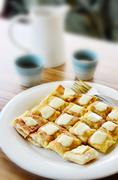 Roti with chesse Stock Photos