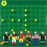 world cup group g - stock illustration