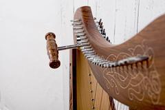 Lähikuva perustamista harppu Kuvituskuvat