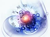 Surreal clock concept Stock Illustration