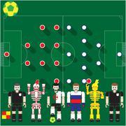 Algeria vs russia Stock Illustration