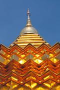 Buddhist golden stupa Stock Photos