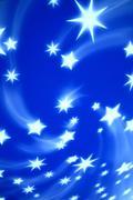 blue tech stars - stock photo