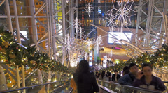 POV Hong Kong Mong Kok Langham shopping center mall China Asia Stock Footage