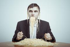 overeating - stock photo
