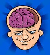 Stock Illustration of brainy man cartoon illustration