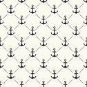 Stock Illustration of Seamless vector pattern of anchor shape and line