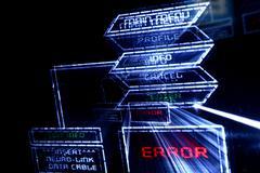 Main menu error Stock Photos