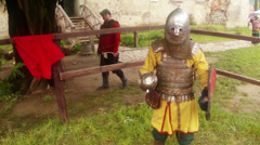 Knightly tournaments at festival of medieval culture Stock Footage