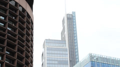Heron Tower lift Stock Footage