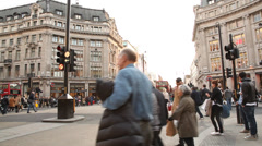 Oxford circus crossing Stock Footage