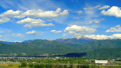 Expressway in Nagano Prefecture. Stock Footage